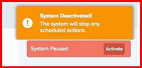 System Deactivated